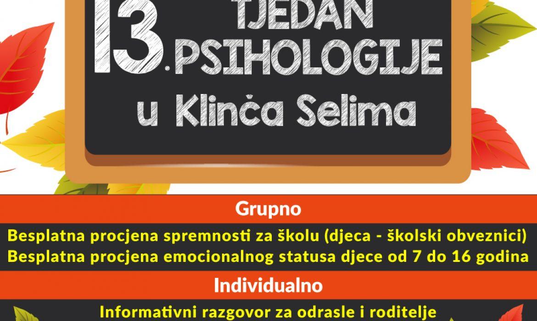 13. tjedan psihologije u Klinča Selima