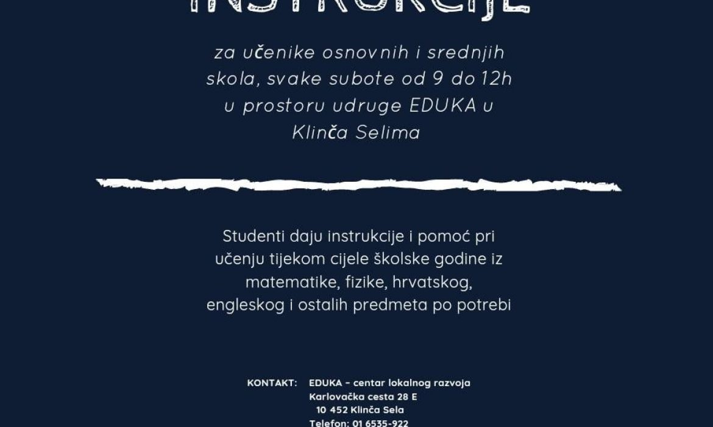 Besplatne instrukcije za sve školarce